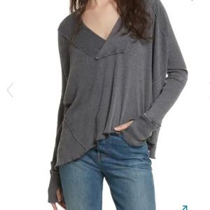 We the Free People Oceanview Plunging V-Neck Top